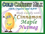 100% Organic and Raw with Cinnamon, Maple and Nutmeg