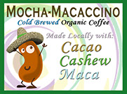 Cold Brewed Organic Coffee with Cacao, Cashews and Maca