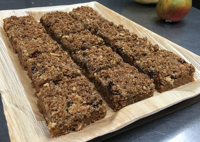 Walnut Date Coffee Crumb Cake