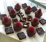 Chocolate Rasberry Cupcakes and Chocolate Fudge