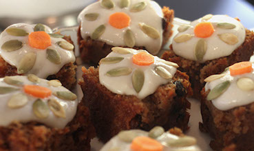 Carrot Cake with Lemon Cashew Creme
